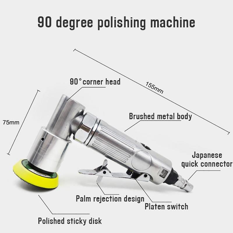2 Inch 3 Inch Mini Straight-heart High-speed Pneumatic Sanding Machine With Push Switch Sanding Pad For Polishing Grinding Tool Power Tools