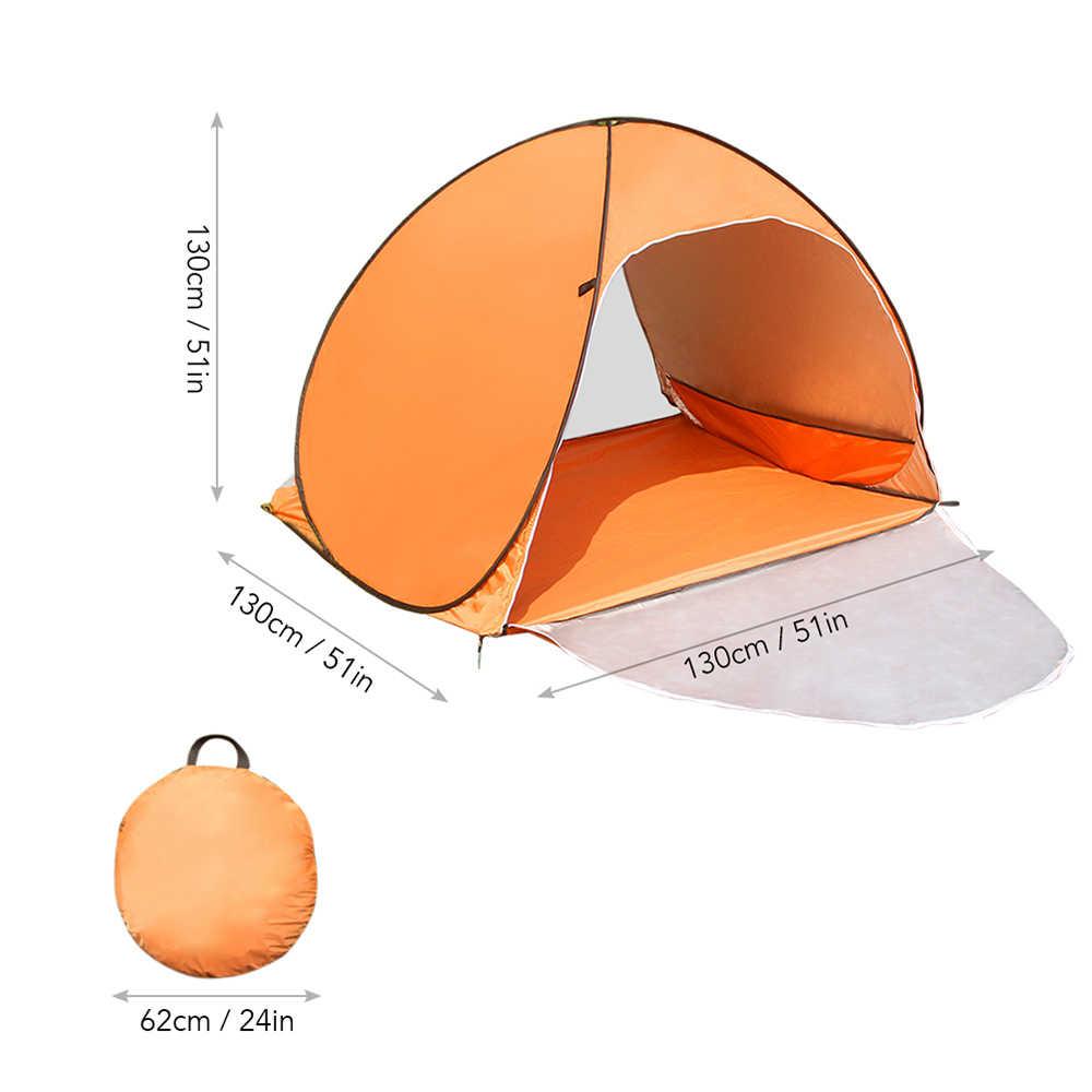 Tente de plage extérieure tente de Camping pliable Pop Up abri solaire respirant enduit tente de Protection solaire pour 1-2 personnes