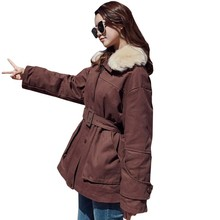 Chic Waist Clothes Woman Winter Short Fund BF Original The Night Wind Easy Cotton Work Plus Size Jacket Loose Coat LS144