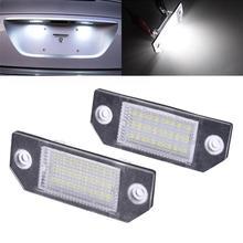 Шт. 2 шт. DC 12 В в светодио дный автомобиль светодиодный свет номерной знак свет 6 Вт 24 светодио дный светодиодный Белый свет для Ford Focus 2 C-Max Автоматическая сигнальная лампа