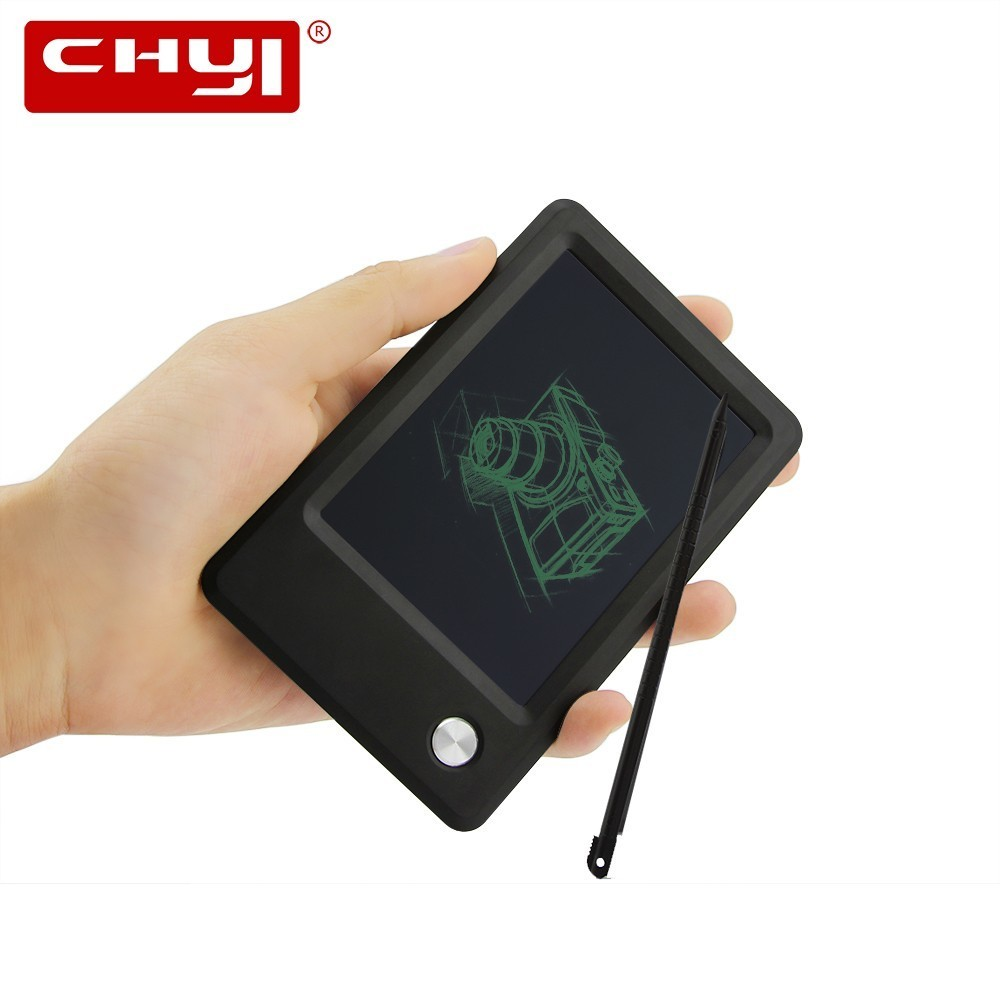 CHYI Mini LCD Writing Tablet 4.5 Inch Handy Digital Drawing Board Memo Message Electronic Graphic Notepad Paperless Gift For Kid