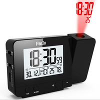 LCD Projection LED Display Time Digital Alarm Clock Home Bedroom Supplies Talking Voice Prompt Thermometer Snooze Function Desk