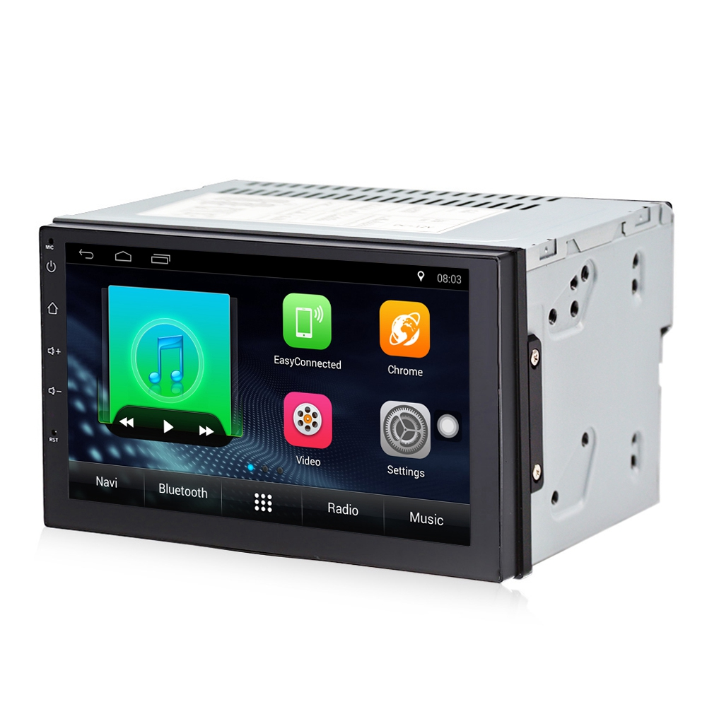 2 Din Android 7.1 Car Radio Stereo 7 Inch 1024 x 600 Universal Car Player Gps Navigation Wifi Bluetooth Usb Radio Audio Player