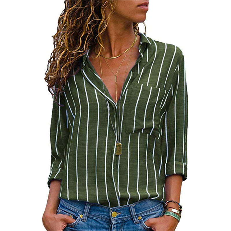 Fashion Women   Blouses   2019 Long Sleeve Turn Down Collar Office   Shirt   Chiffon   Blouse     Shirt   Plus Size Blusas Femininas Casual Tops