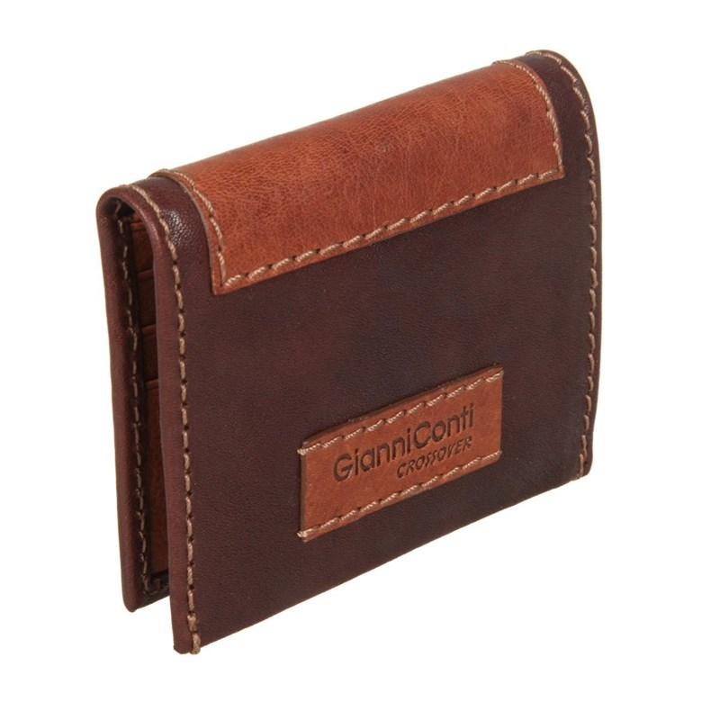 Coin Purse Gianni Conti 997387 dark brown-Leather eastnights vintage crazy horse handmade leather men wallets multi functional cowhide coin purse genuine leather wallet tw1603