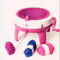 Novel plastic needle sewing tool child DIY hand knitted machine scarf hat children knitting machine children's educational toys