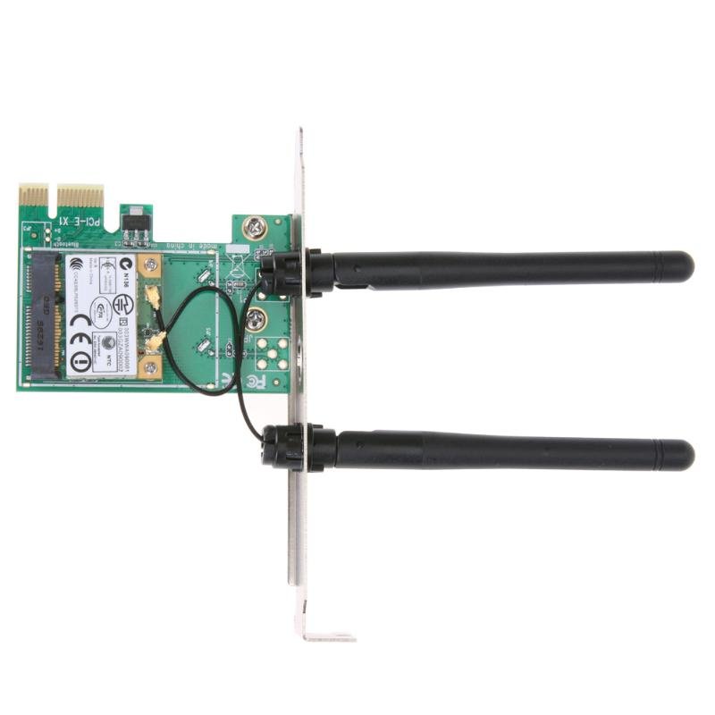 300Mbps 802.11n/g/n Wireless Wifi LAN Network PCI-Express Connector Adapter Card With 6DPI Antenna For Desktop Windows