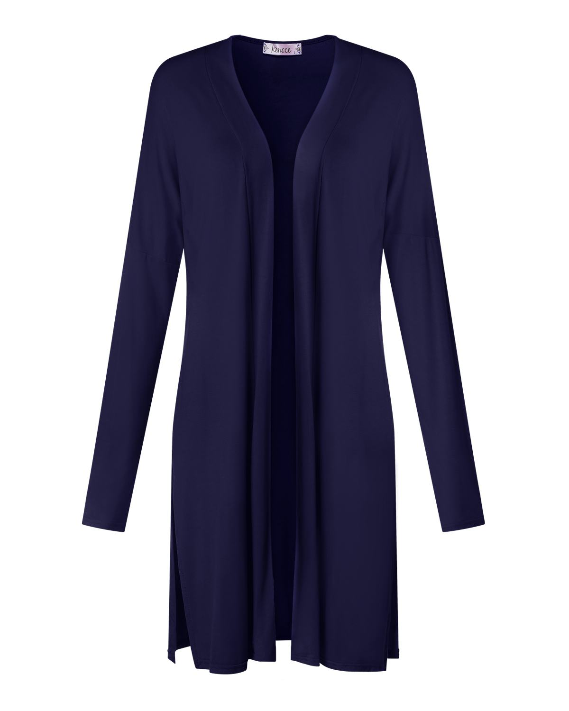 Casual Loose Cardigan Coats Women Solid kimono Trench Autumn Long Sleeve Split Straight Long Thin Cardigan Female Sunscreen Tops