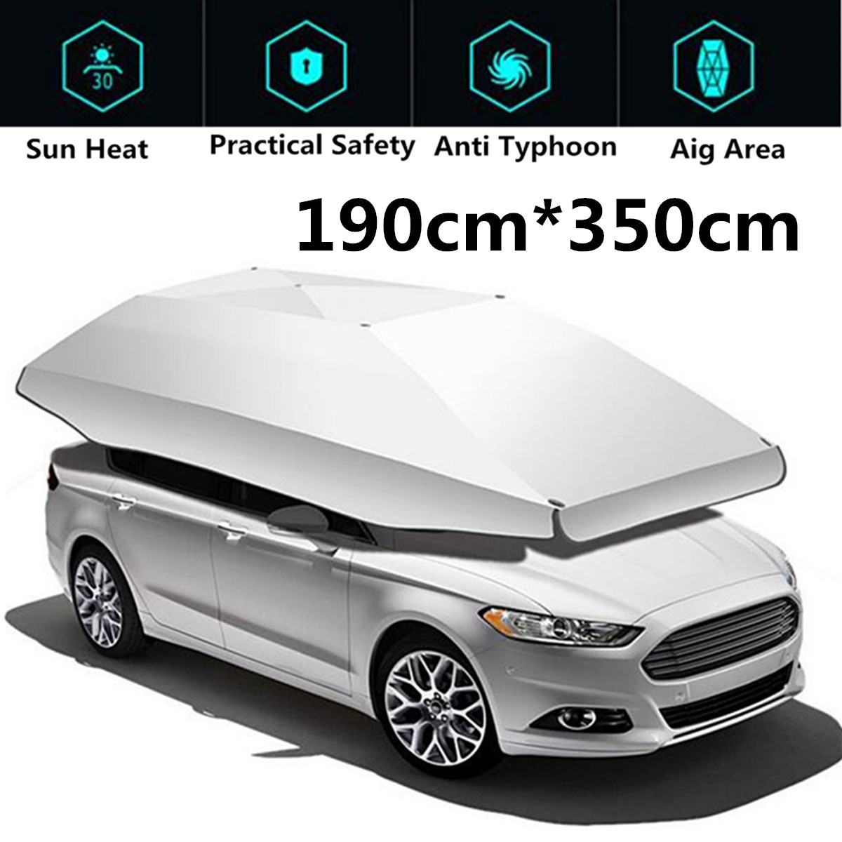 1.9*3.5 M Étanche voiture en plein air Véhicule Tente Parapluie Parasol couverture de toit Anti-UV Kit parapluie de voiture pare-soleil parapluie de voiture