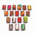 City Friends Building Blocks Carrot Cherry Banana Fish Food Basket Fruits Bread Brick Toy Compatible Accessories