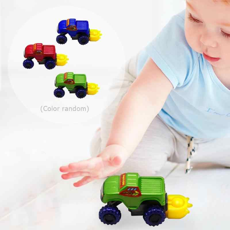 DIY Assemble Disassembly Toy Off-road Vehicle Racing Car Plastic Transparent Car Pull Back Small Engineering Car Model Kid Gift