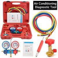 Car Air Conditioning R134A HVAC A/C Refrigeration Kit AC Manifold Gauge Set Auto Service Kit Repair Fluorine Filling Tool