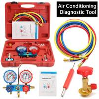 Car Air Conditioning R134A HVAC A/C Refrigeration Kit AC Manifold Gauge Set Auto Service Kit Repair Fluorine Filling Tool