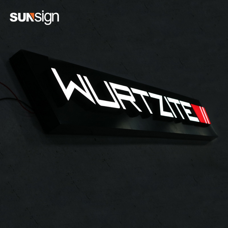 3D Front Lit Light Box Acrylic Letter Material For Shop Outdoor Decoration