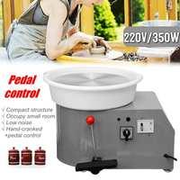 220V 350W Electric Pottery Wheel Ceramic Machine 300mm Ceramic Clay Potter Kit For Ceramic Work Ceramics