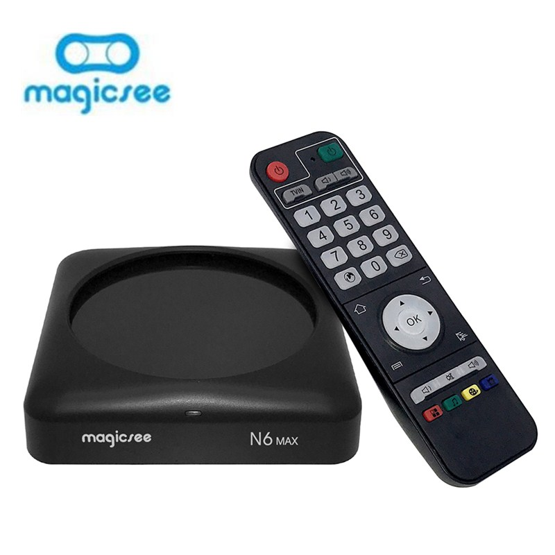 MAGICSEE N6 MAX TV Box Rockchip3399 4GB /32GB 2.4G/5GWiFi 1000Mbps LAN USB3.0 OTG BT4.1 Support 4K H.265 Set Top Box Android 7.1 : 91lifestyle