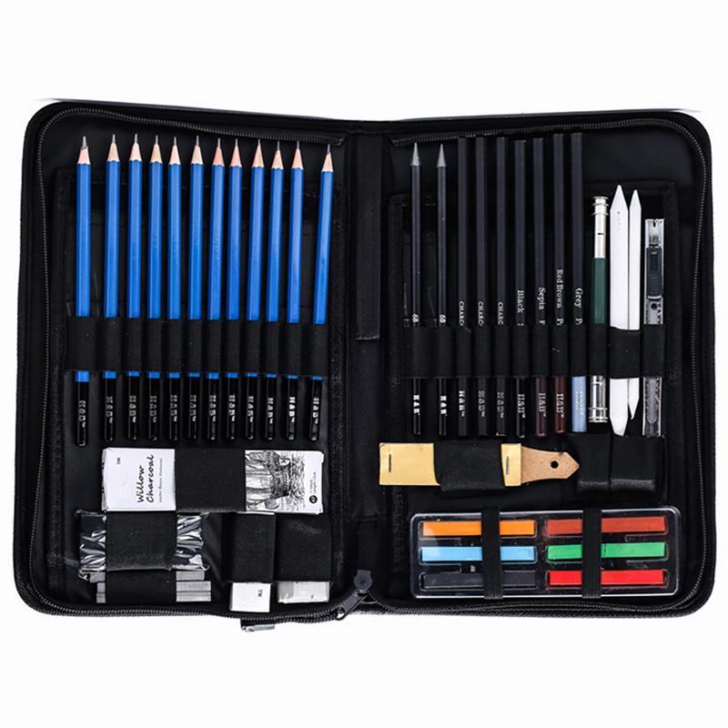 48PCS Sketch Wood Pencil Painting Tool Set Professional Drawing Graphite Pastel Pencil Art Student Pencil Sharpener Pastel Pen48PCS Sketch Wood Pencil Painting Tool Set Professional Drawing Graphite Pastel Pencil Art Student Pencil Sharpener Pastel Pen