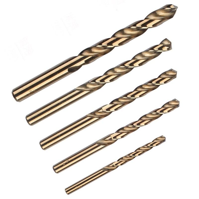 5Pcs High Hardness Drill Bit HSS CO M35 Cobalt Twist Drill Bits For Metal Steel 1mm 2mm 3mm 4mm 5mm Hand& Power Tool Accessories