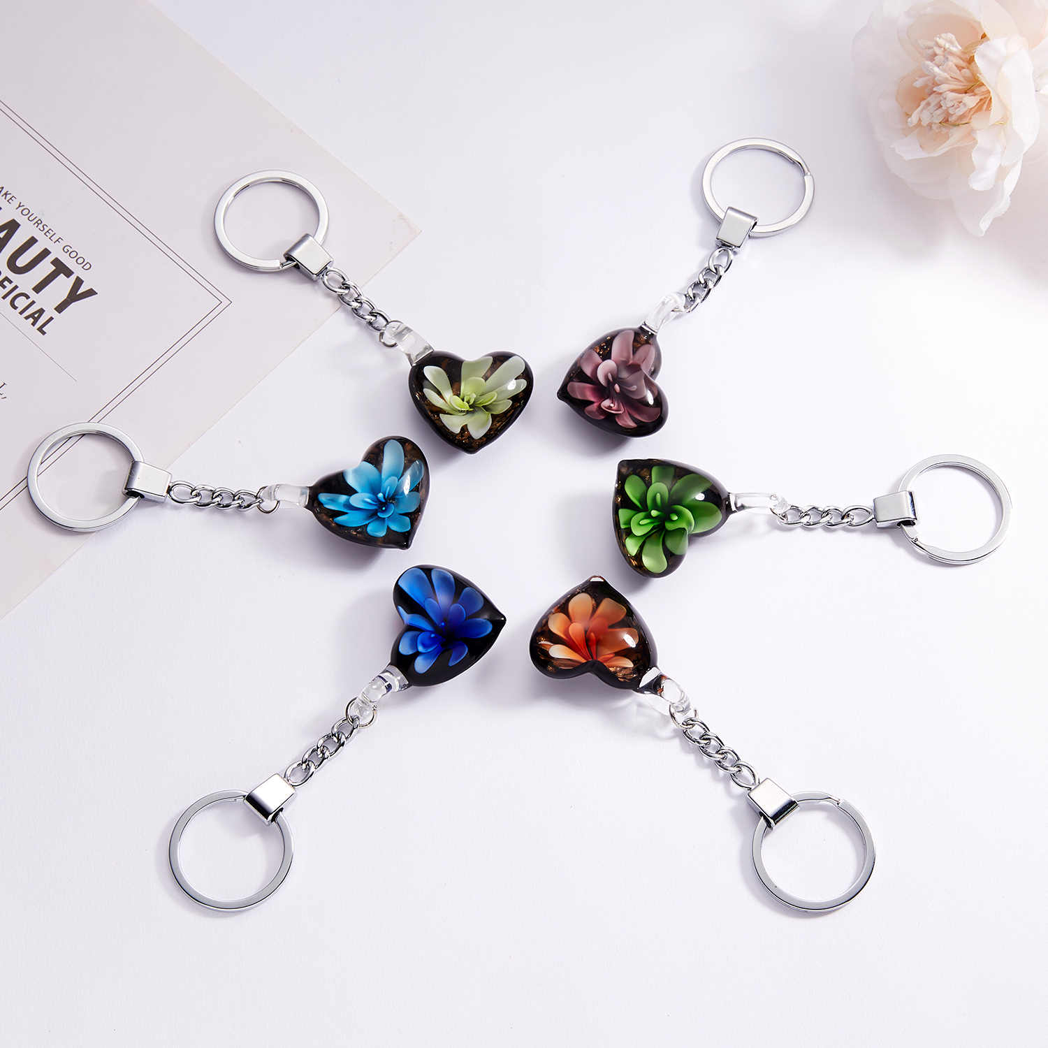 Elegant Crystal Rhinestone Geometric Keychain For Women Girls Gold Color Metal Car Key Rings Creative Fashion Jewelry Gift Q-005