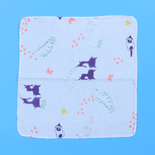 1 шт., маленькое квадратное полотенце, носовой платок, мягкое удобное полотенце для лица, для мытья лица, для купания, для кормления детей, новорожденных, случайный цвет