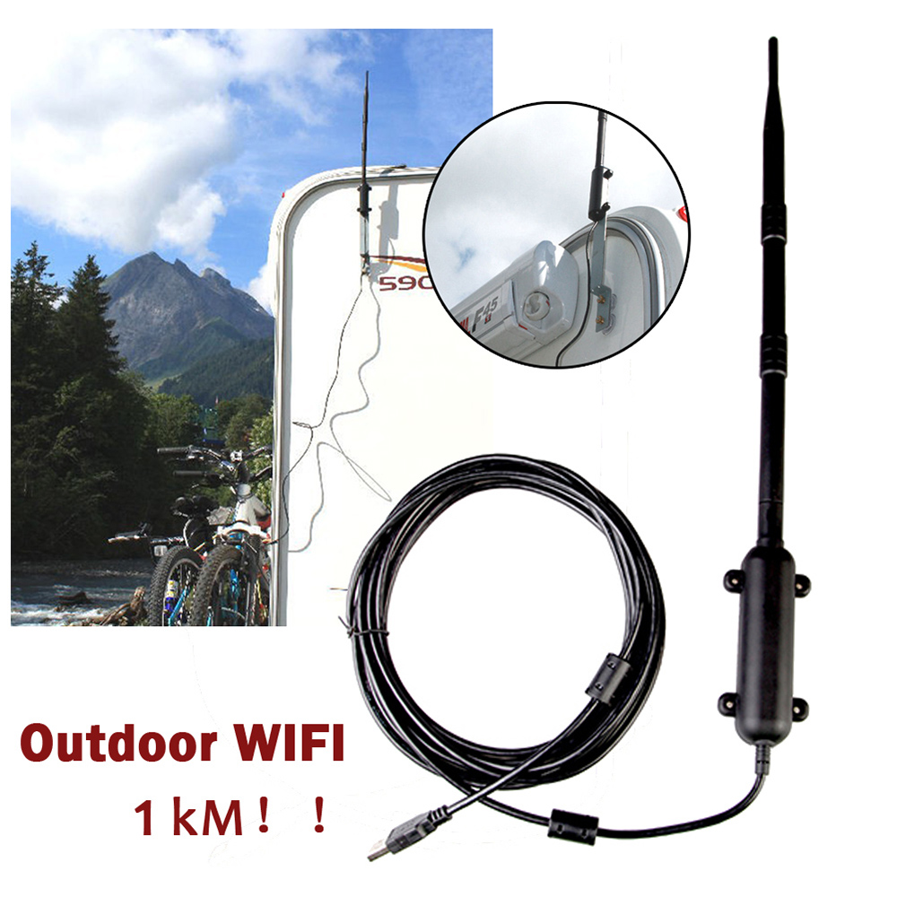 1000M Outdoor WiFi Extender USB 2.0 Adapter WiFi Antenna 8 Signal Amplifier
