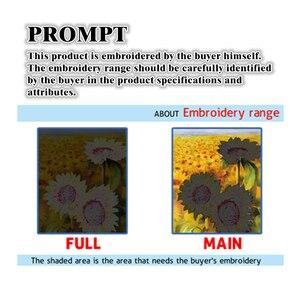 Image 5 - كاكا عبر عدة خياطة ، الزهور فلامنغو 5D ، التطريز التطريز مجموعات مع نمط المطبوعة ، 11 قماش ، ديكور المنزل اللوحة
