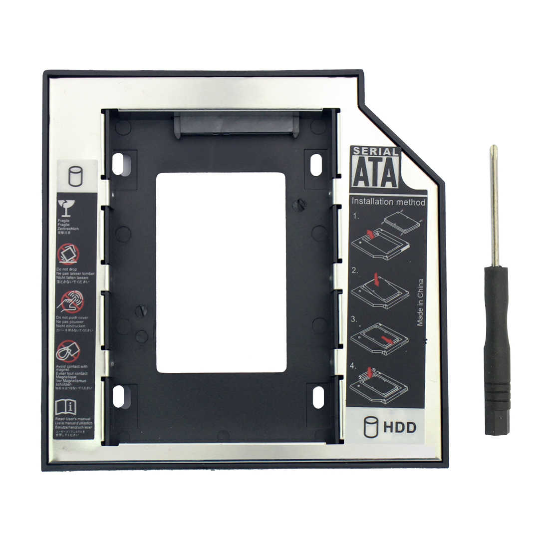 34c494928ada 12.7m SSD Adapter SATA 3.0 HDD Hard Disk Drive CD-ROM Bracket 2.5