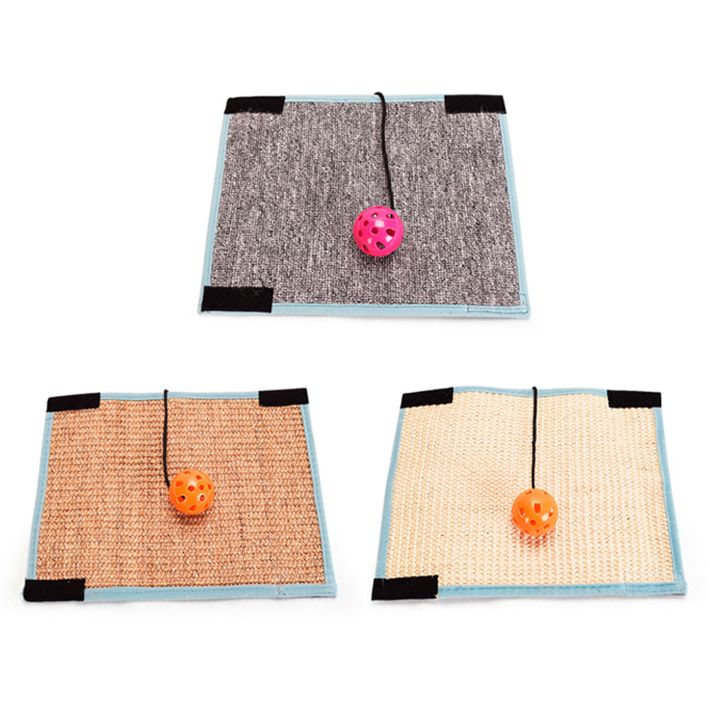 Furniture & Scratchers Latest Collection Of Carpet Chair Foot Protector Mat With Bell Ball Sisal Furniture Anti-claw Pet Supplies Pad Warm And Windproof
