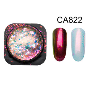 Image 4 - Yucca Flakes for Nails Glitter Powder Paillette Chameleon Nail Flakes Yuki Mirror Power Nail Design Sequins for Nails SF3043