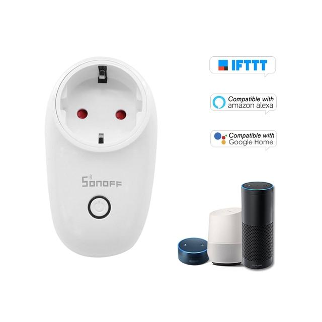 3 unids/lote Sonoff S26 WiFi inteligente del zócalo TypeF UE inalámbrico macho enchufes de casa inteligente interruptor para Alexa Asistente de Google IFTTT