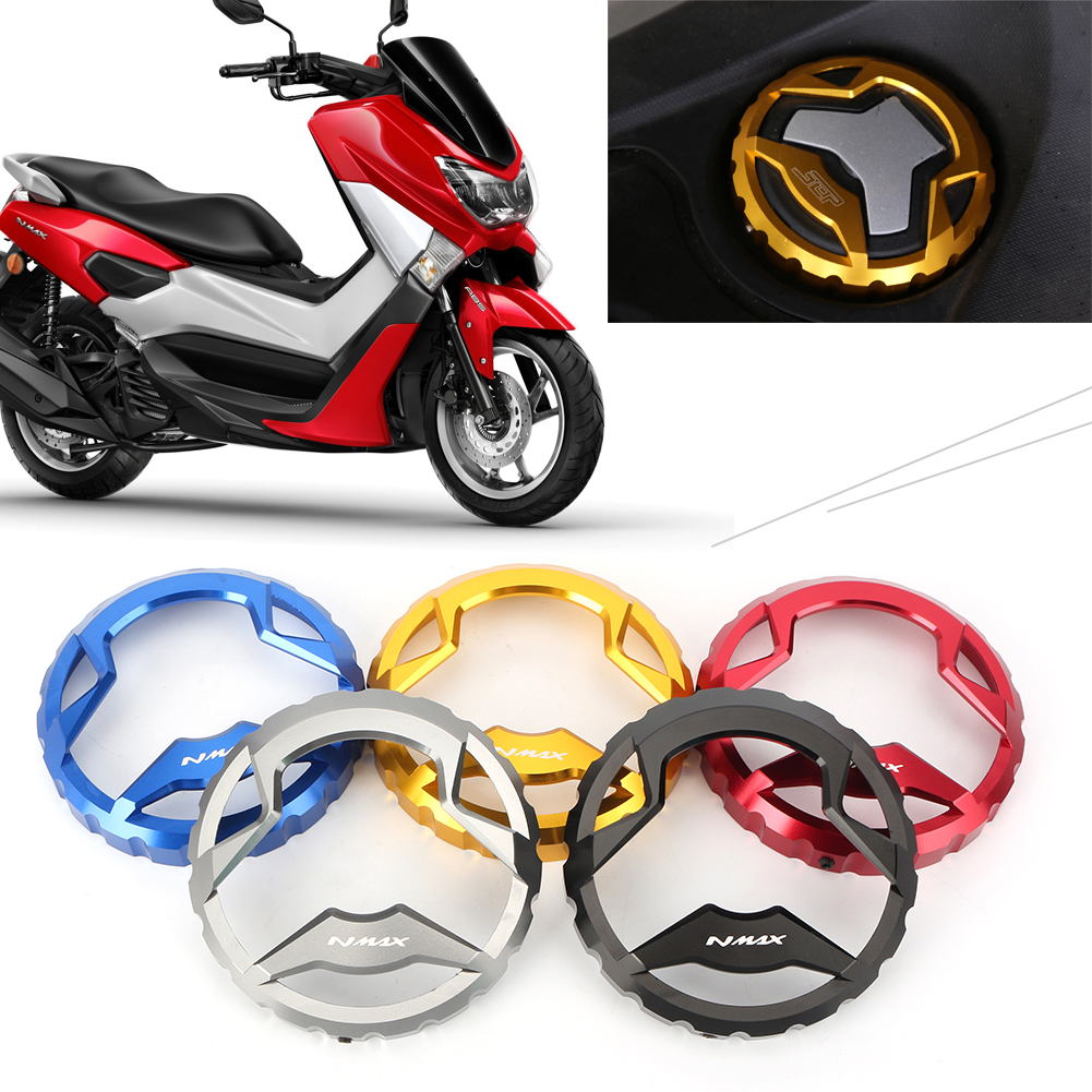 CNC Motorcycle Petroleum Fuel Gas Cap Lid Cover For <font><b>YAMAHA</b></font> <font><b>NMAX</b></font> <font><b>155</b></font> NMAX155 2015 2016 15 16 Motorbike Parts Accessories image
