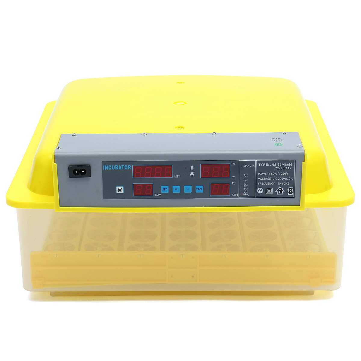 56 Egg Brooder Digital Fully Automatic Incubator Hatcher Turning Chicken Duck Humidity Temperature Control New Hatching machine