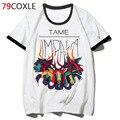 Camiseta escola masculina tame impala, roupas harajuku, camiseta hop engraçada 2019 para camiseta, streetwear, hip f2966