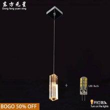 Pendant Light Crystal k9 G4 LED 12V lamp Modern Column Design Hanging Corridor Lamp
