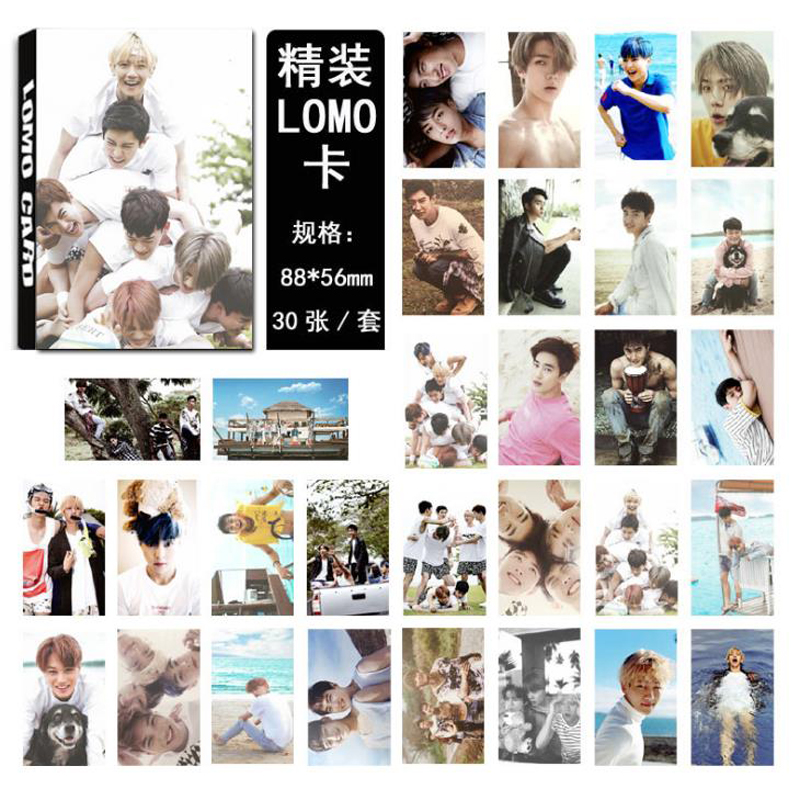 Business Cards Office & School Supplies Cheap Price 30 Pcs/pack Hot Kpop Exo Sehun Baekhyun For Life Album Lomo Cards Self Made Paper Photo Card Hd Photocard Stationery Gifts