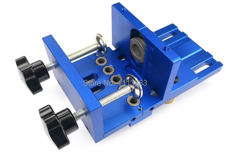 Купить с кэшбэком New Upgraded High Precision Dowelling Jig With 5 Metric Dowel Holes(6mm,8mm,10mm) For Very Accurate Woodworking Joinery