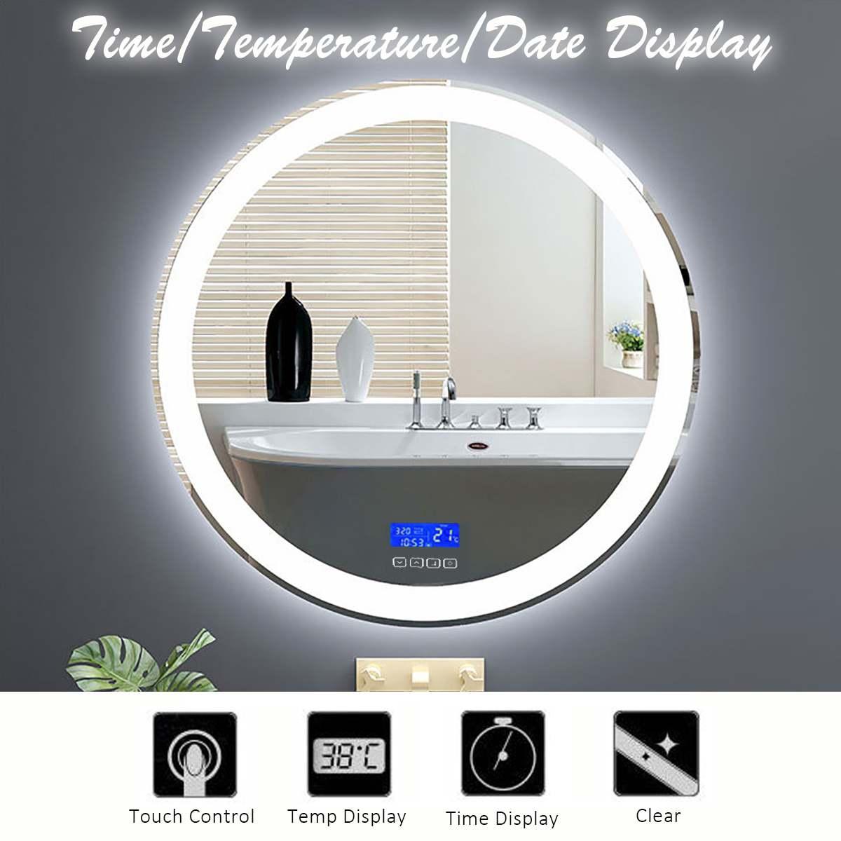 Gisha Smart Mirror Led Bathroom Mirror Wall Bathroom Mirror Bathroom Toilet Anti-fog Mirror With Touch Screen Bluetooth G8206 Bath Mirrors Bathroom Hardware
