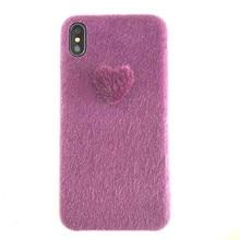 Xindiman Soft Plush Phone Case For Apple Iphone X XS XSMAX XR case Purple Fashion carcase 2019 6 6s 6plus 7 7plus 8 8plus