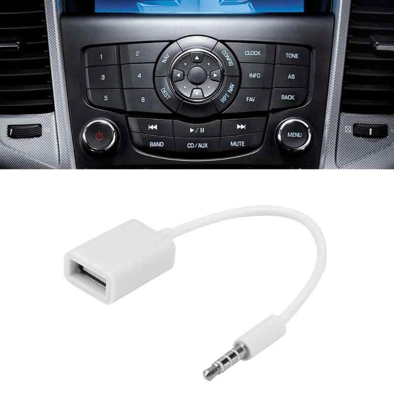 15cm 3.5mm 2.0 Type A Female OTG Converter Adapter Cable Wire Cord Line Audio AUX Jack Male to USB Auto Car Accessories
