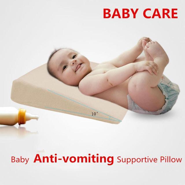 Almohada de cama de cuña cojín de apoyo elevado para bebé Slant Acid Reflux suministros Anti vómito