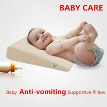 Wedge Bed Pillow Elevated Supportive Cushion for Baby Slant Acid Reflux Anti-vomiting Supplies