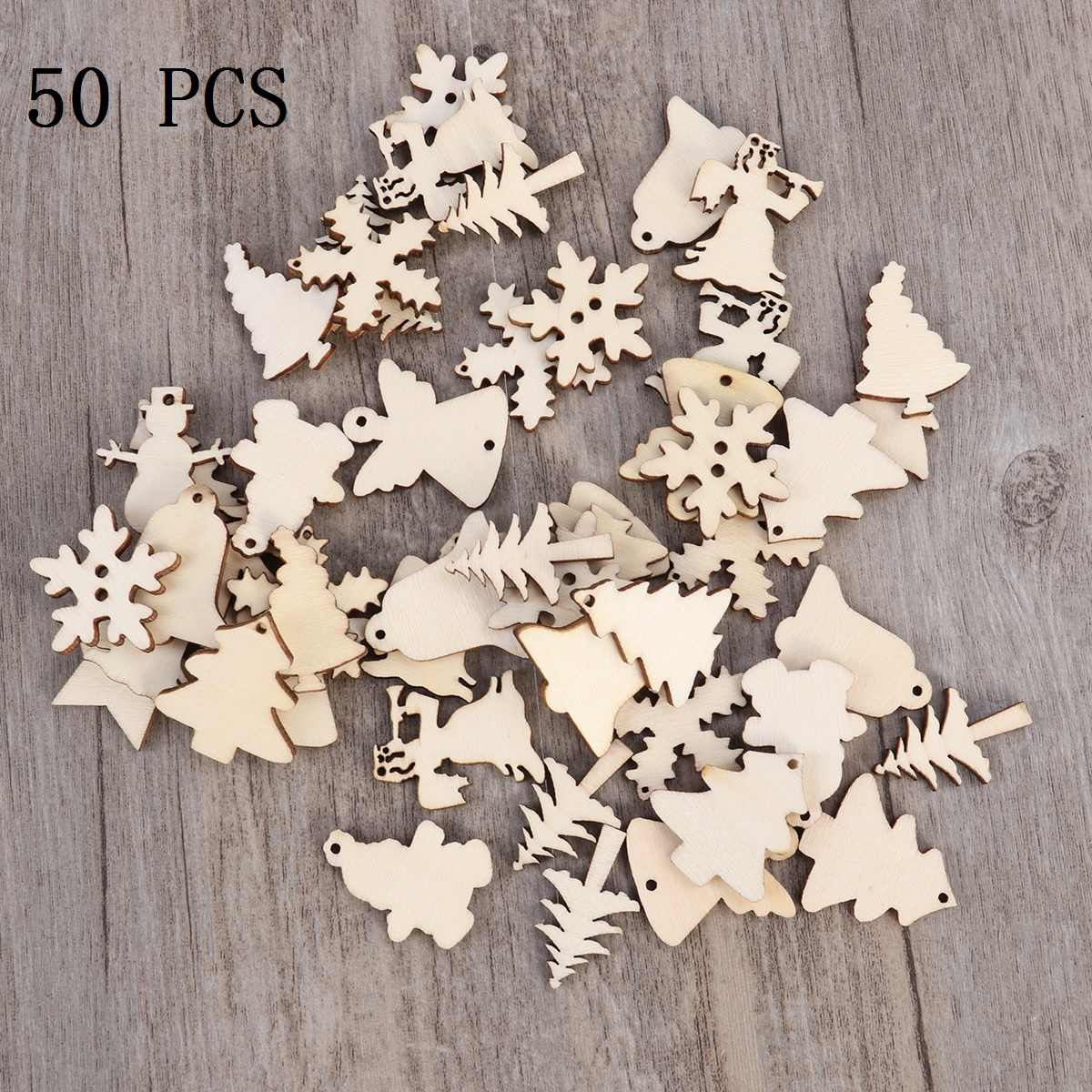Free Wooden Christmas Tree Patterns.50pcs Wooden Christmas Tree Snowman Snowflake Slices 12
