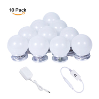 10pcs LED Vanity Mirror Lights Table Makeup Mirror Light Dressing Table Vanity Light Bathroom Lights