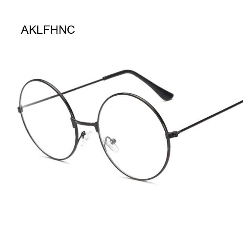 Unisex Fashion Classic Gold Metal Frame Glasses Women Classical Vintage Style Optical Round Glasses For Reading