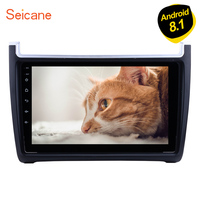 Seicane 9 Inch Android 8.1 GPS Head Unit Bluetooth 2Din Car Radio For VW Volkswagen Polo 2012 2013 2014 2015 support Rear camera