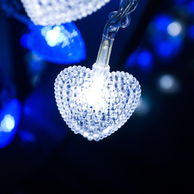 220V Length 32 8ft PVC Love Heart LED string light home decoration outdoor waterproof IP46 xmas party decor christmas tree light in Lighting Strings from Lights Lighting