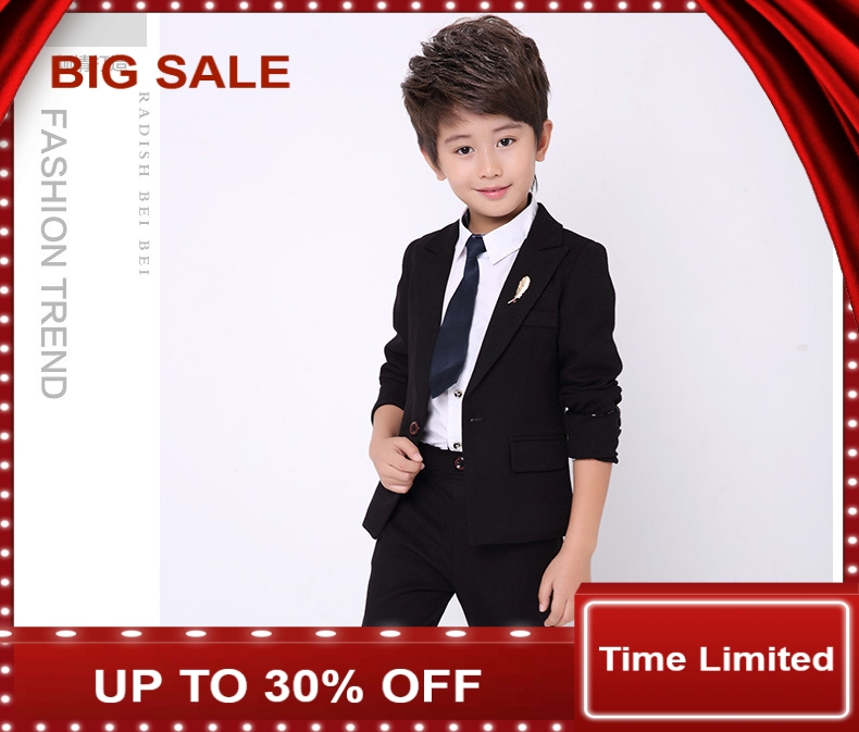child Suits coat+ Pant + Shirt 3 pieces sets Boy Casual Costumes fashion Gentle Kids Prince Garment Sets