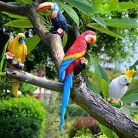 10 стилей моделирования смолы попугай и сова украшения дома ремесла творческих животных Птица модель сад и свадебные украшения