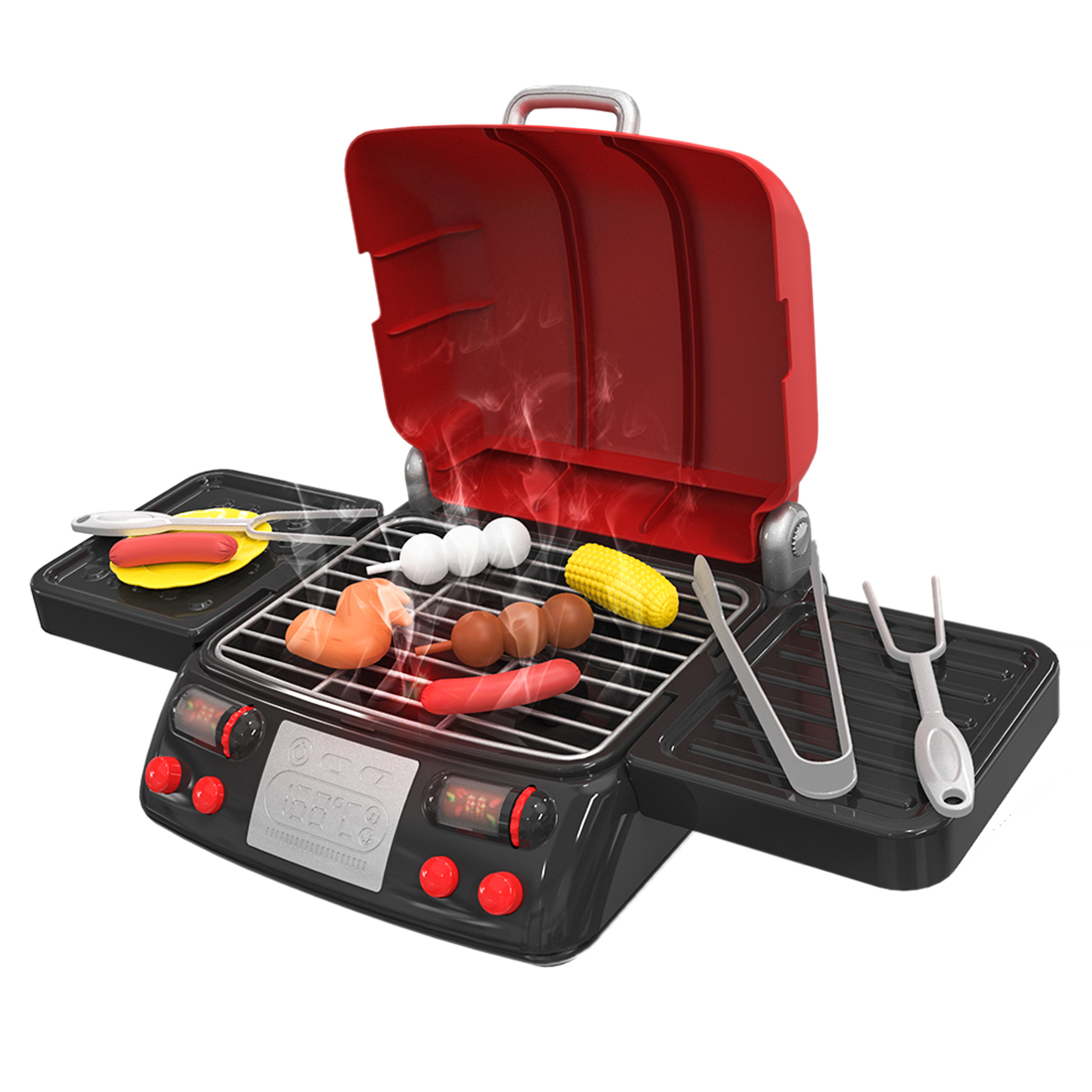 US $22.44 32% OFF|Children Kitchen Toy Simulation Electric BBQ Grill  Sausage Chicken Wing Tomato Sauce Cooking Pretend Play Toys Boys Girls  Gift-in ...