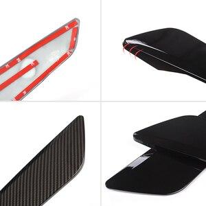 Image 4 - 2 PCS רכב סיבי פחמן סגנון צד כנף זרימת אוויר פנדר גריל Vent צריכת לשקע לקצץ עבור BMW 5 סדרה g30 2018